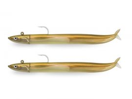 CSE801 - Crazy Sand Eel 120 Double Combo - Off Shore 15g - Or