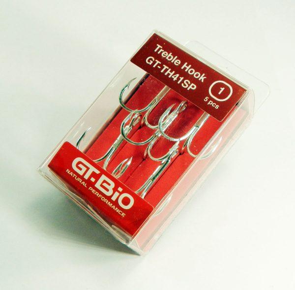 GT-Bio - Treble Hook #1 5pcs/Blister - Nickel