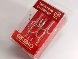 GT-Bio - Treble Hook #1 5pcs/Blister - Nickel