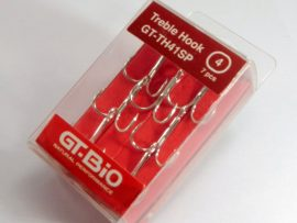 GT-Bio - Treble Hook #4, 7pcs/Blister - Nickel