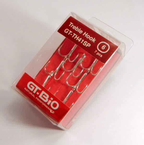 GT-Bio - Treble Hook #6, 7pcs/Blister - Nickel
