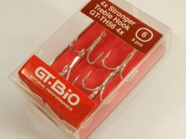 GT-Bio - Treble Hook Stronger, #6, 6pcs/Blister - Nickel
