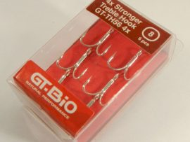 GT-Bio - Treble Hook Stronger #8, 6pcs/Blister - Nickel