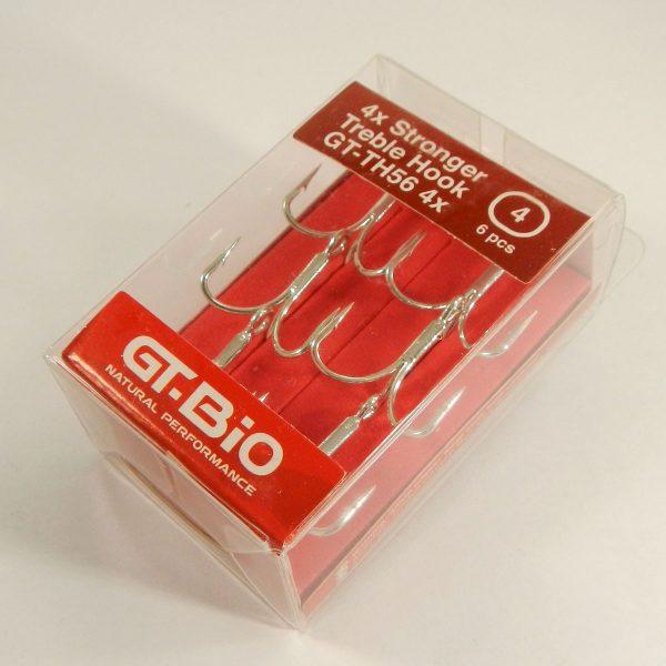 GT-Bio - Treble Hook Stronger #4, 6pcs/Blister - Nickel